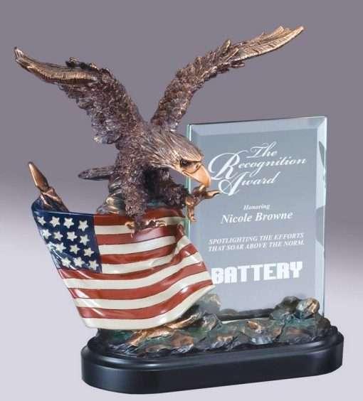 Resin Eagle on American Flag